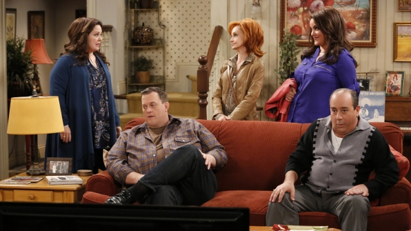 Then and now: Mike and Molly are always surrounded by love.