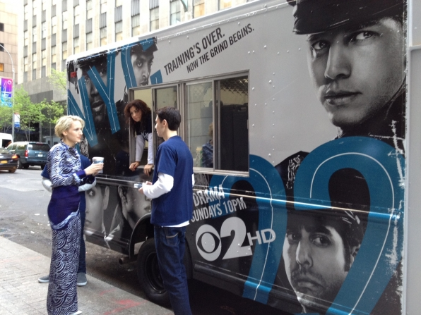Leelee Sobieski at the Coffee Truck