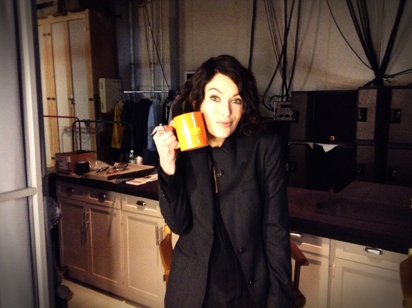 Lena Headey - Behind the Scenes at The Late Late Show