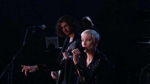 Hozier and Annie Lennox