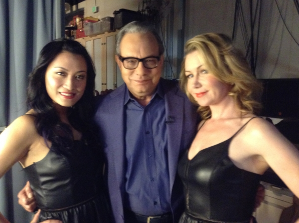 Lewis Black with Liza and Tuyen