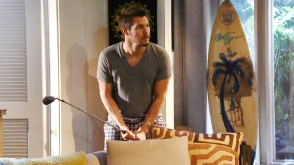 Liam is awakened by a masked intruder in the beach house.