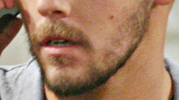 The stubble is bold and beautiful.