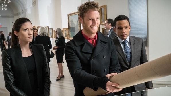 Jennifer Carpenter as Agent Rebecca Harris, Jake McDorman as Brian Finch, and Hill Harper as Agent Spellman Boyle