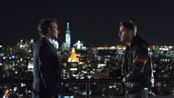 It's Bradley Cooper and Jake McDorman from Limitless!
