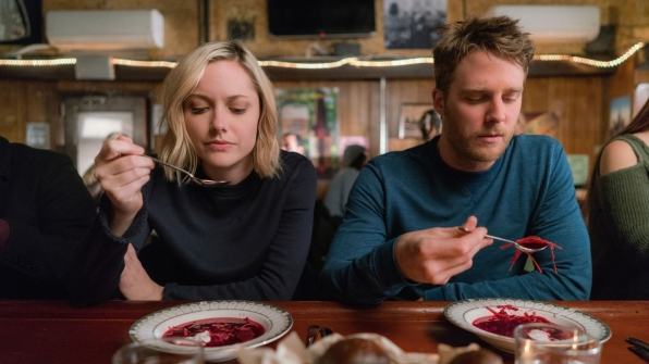 Georgina Haig as Piper and Jake McDorman as Brian Finch