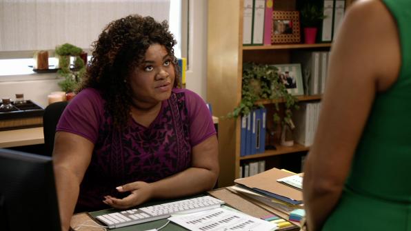"Da'Vine Joy Randolph in ""Babe Secret Phone Germs"""