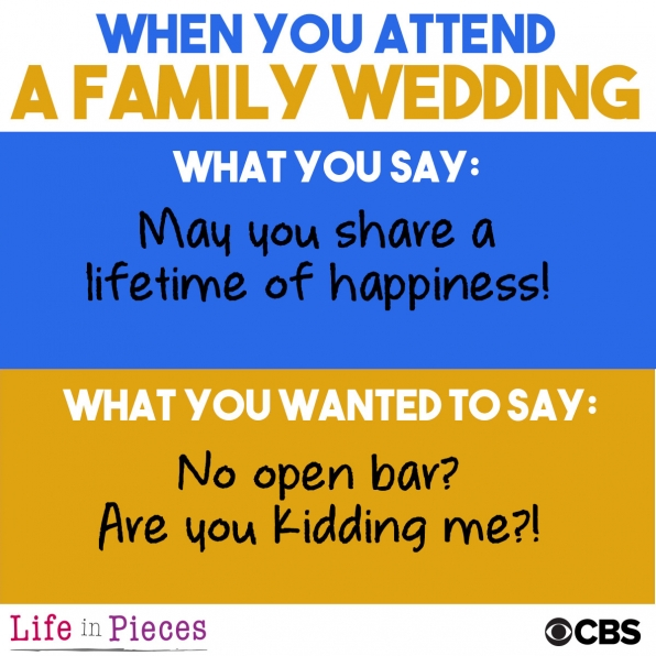 When you attend a family wedding