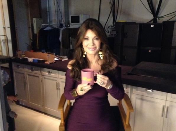Lisa Vanderpump - Behind the Scenes at The Late Late Show