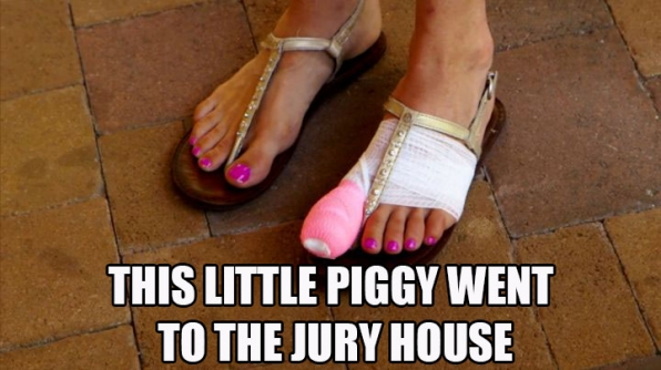 Becky makes a trip to the jury house.