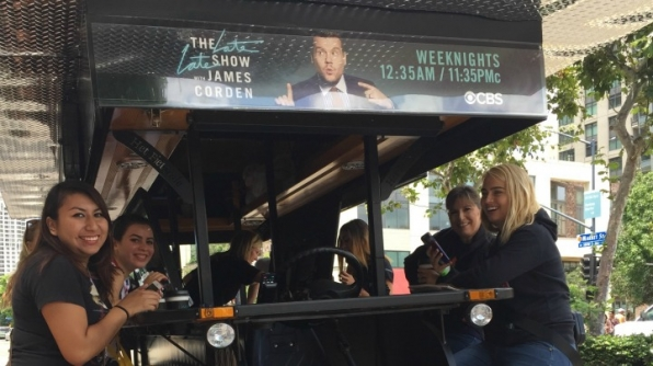 Comedy fans sat shotgun with James Corden