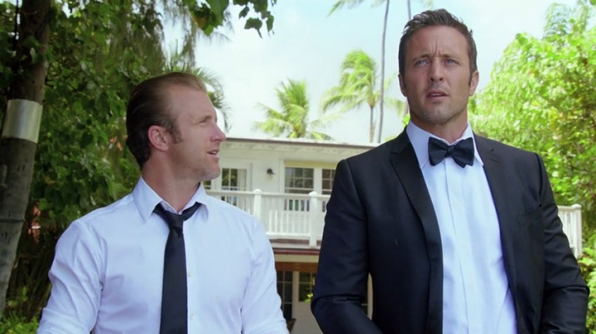 McGarrett in a bow tie? Yes, please.