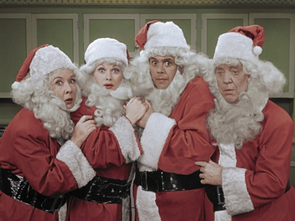 7. Millions of hilarious Santas impersonators.