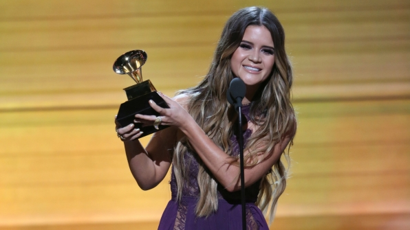 Maren Morris wins Best Country Solo Performance at the 2017 GRAMMY Awards