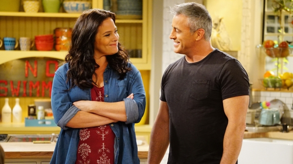 Liza Snyder as Andi and Matt LeBlanc as Adam