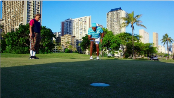 ​Grover golfed with renowned Iron Chef Masaharu Morimoto