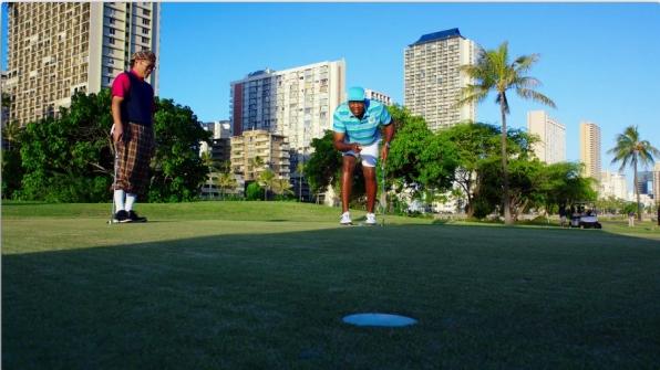 Grover golfed with renowned Iron Chef Masaharu Morimoto