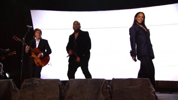Kanye West, Rihanna and Paul McCartney