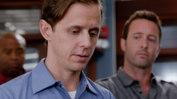 Joe Egender as Neil Palea and Alex O'Loughlin as Steve McGarrett