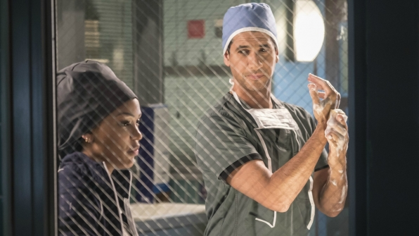 Meagan Good as Dr. Grace Adams and Raza Jaffrey as Dr. Neal Hudson