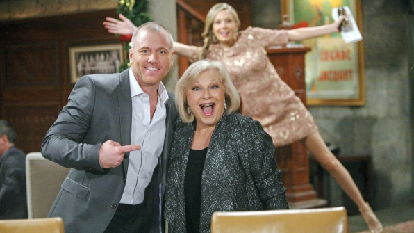 Melissa Ordway made everyone laugh when she photobombed Sean Carrigan and Beth Maitland's photo.
