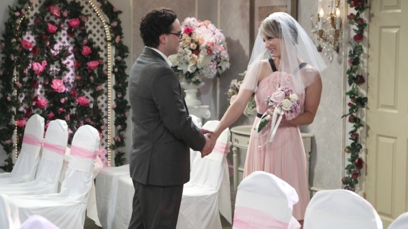 Penny and Leonard exchanged their vows on The Big Bang Theory.