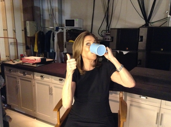 Meredith Vieira - Behind the Scenes at The Late Late Show