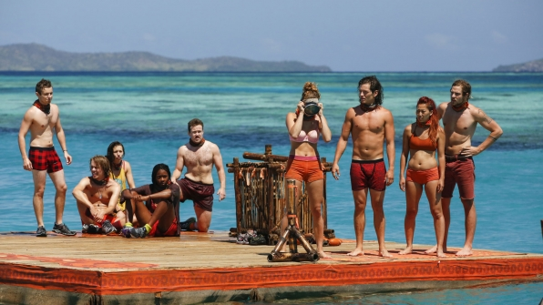 The Millennials wait for instructions from Jeff about the season's second Immunity Challenge.