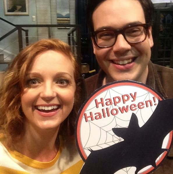 The Millers Instagram: Jayma and I celebrating some sort of holiday that happens around now.