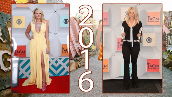 """Miranda Lambert was a """"fighter with a centerfold face"""" at the 51st Academy of Country Music Awards"""
