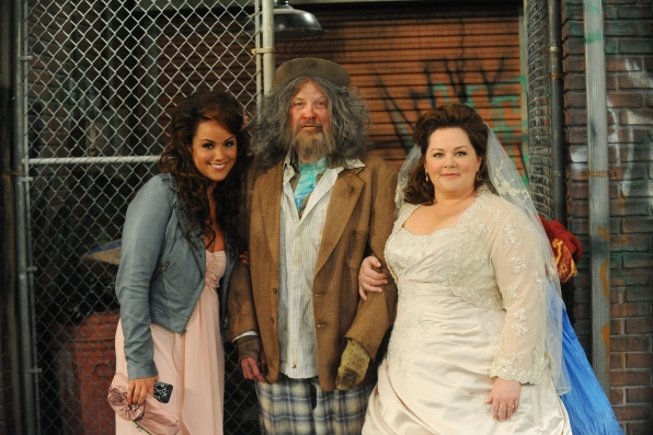 Melissa McCarthy, Katy Mixon and Mark Roberts