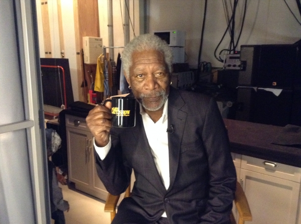 Morgan Freeman - Behind the Scenes at The Late Late Show