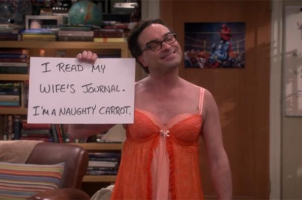 Naughty: Leonard, The Big Bang Theory