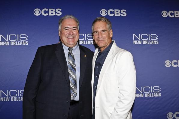 NCIS Agent D'Wayne Swear and Scott Bakula