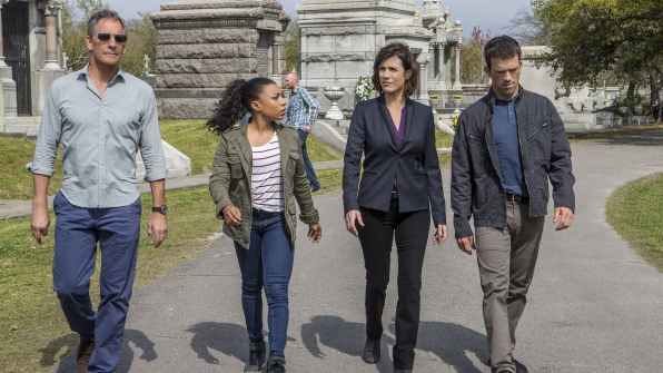 Scott Bakula as Dwayne Pride, Shalita Grant as Sonja Percy, Zoe McLellan as Meredith Brody, and Lucas Black as Christopher LaSalle