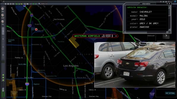 Digital mapping locates the vehicle in question.