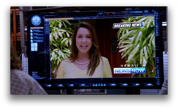 Mileka Lincoln, who plays a reporter, has the same role in real-life with Hawaii News Now.