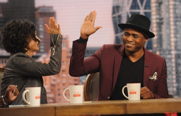 High fives with Wayne Brady