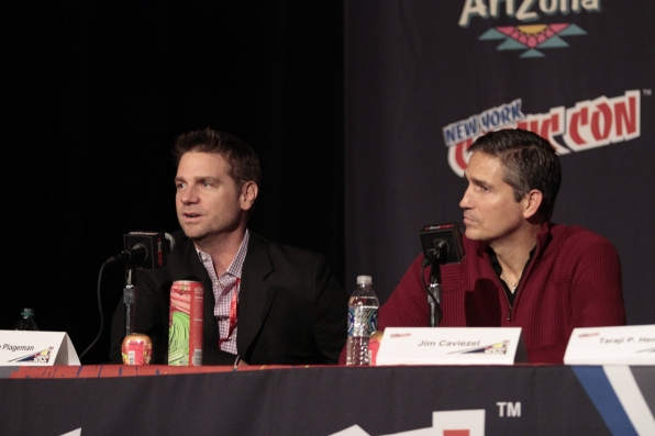 Greg Plageman and Jim Caviezel
