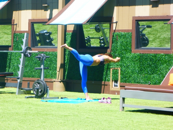 Elissa Practicing Yoga