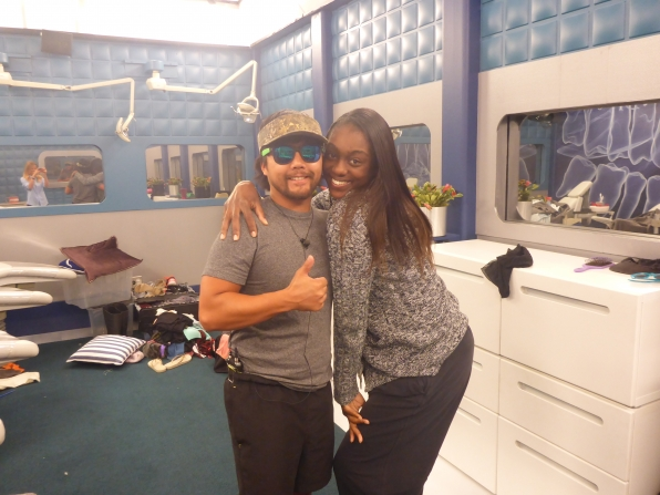 Da'Vonne and James cozy up for a photo together.