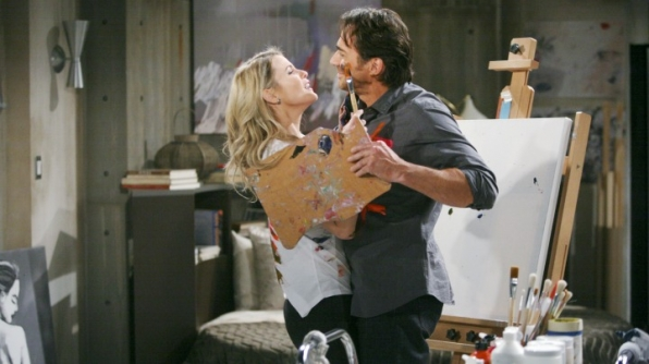 Caroline moves into Ridge's bohemian loft.