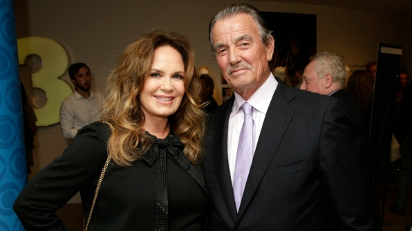 Catherine Bach and Eric Braeden flaunted classic style.