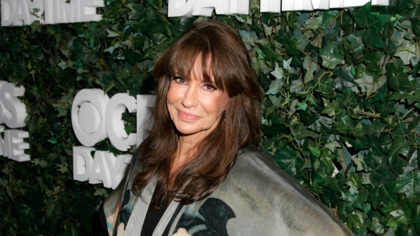 Jess Walton rocked chic bangs and an artistic top.