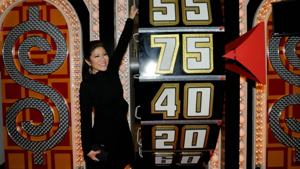 Julie Chen took her turn spinning The Price Is Right's Big Wheel.