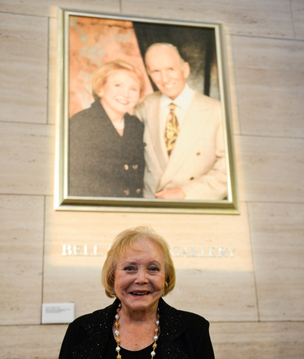 Lee Phillip Bell smiled under her iconic portrait with late husband, William Bell.