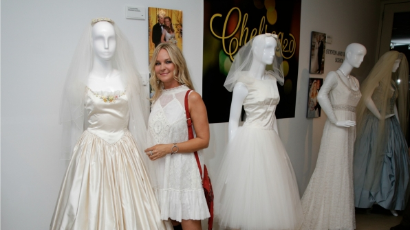 Молодые и Дерзкие - Daytime Number 1 for 30 Years Exhibit Reception - 10 октября 2016 Paley-daytime-sharon-case-dress