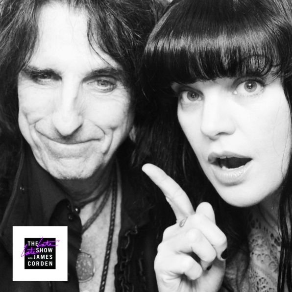 Alice Cooper and Pauley Perrette