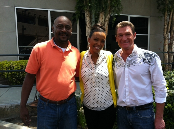 Mark and Bopper with Aisha Tyler