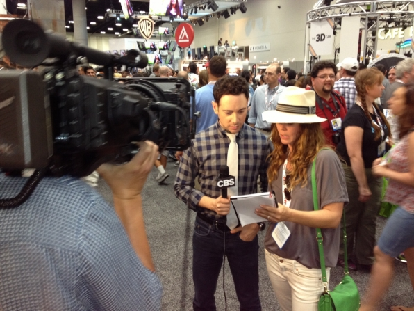 CBS.com Host Andrew Freund Preps for Camera